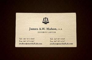 Boşanma Avukatı Kartvizit Modeli 2