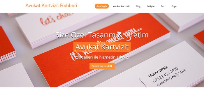 Avukat Kartvizit Tanıtım Sitesi